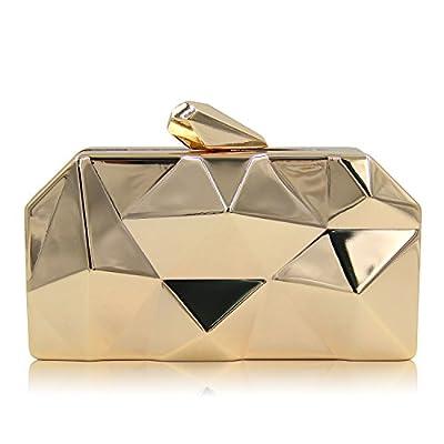 Milisente Women Fashion Metal Evening Handbags Geometric Clutches Purses Bag