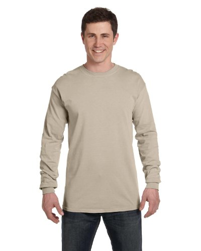 Comfort Colors Mens Ringspun Garment-Dyed Long-Sleeve T-Shirt(C6014) Sandstone nIVO6l