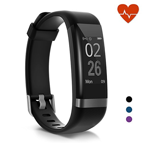 moreFit Heart Rate Monitor, Dare Activity Fitness Tracker Watch with 14 Sports Mode, Wireless Smart Bracelet as Pedometer Calorie Counter and Sleep Tracker for Kids Women Men by moreFit