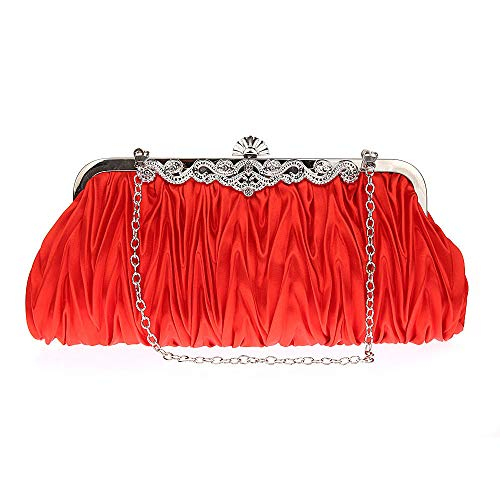 In Lovely Silk Available Prom Cocktail Handbags Clutch Silk 6 Gorgeous Colors Evening Rabbit Red Party Purse qxPAznrqw