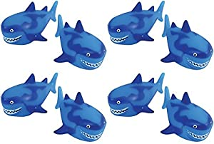 U.S. Toy Shark Water Squirter Pool Beach Bath Toys - Pack of 12