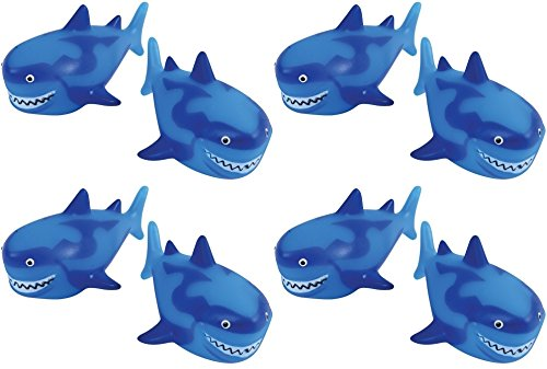 12 pc Shark Squirts - 3.75 inch large size!