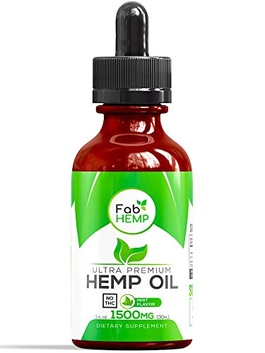 Hemp Oil Extract for Pain, Anxiety & Stress Relief - 1500mg Full Spectrum Organic Hemp Drops - Pure Hemp Extract With MCT - Natural Hemp Oils for Better Sleep, Mood & Stress - Zero THC CBD Cannabidiol