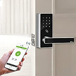 ZKTeco DL30B Bluetooth Smart Lock and Touchscreen Keyless Smart door lock +5 pcs RFID Cards(Zinc Alloy).