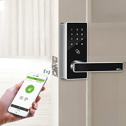 ZKTeco DL30B Bluetooth Locks Touchscreen Keyless RFID Smart Door Lock+5 pcs RFID Cards(Zinc Alloy). by ZKTeco