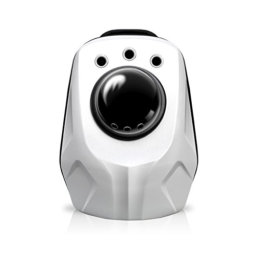 Blanco Grande Respirable Impermeable Mochila Para Mascotas Carrier Transparente Transpirable Cápsula Espacial Astronauta Mascota Gato Perro Cachorro Portador Burbuja Bolsa De Viaje Al Aire Libre Portátil Premium Mochila 26x33x38cm