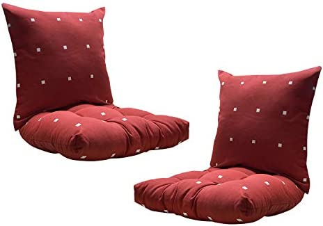 FBTS Prime Outdoor Chair Cushion and Outdoor Pillows 2 Packs Red Polka Dot Pattern Patio Decorative Cushion Set