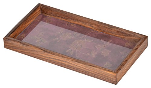 Home Creation Natural Brown Wood,Polished Tray, 1-Piece, Service for 2, Brown (HC 050)