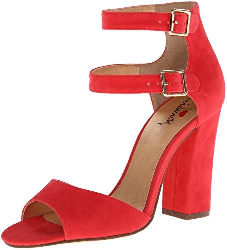 Luichiny Women's Mad Rush Dress Sandal,Light Red,11 M US -