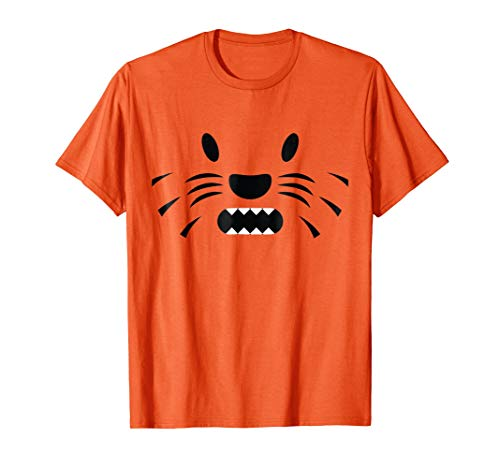 Halloween Tiger Lion Face Easy Costume Shirt Kids, Adults -