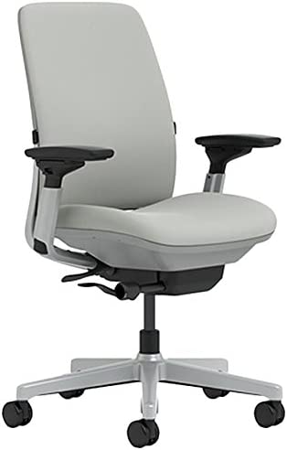 Steelcase Amia Chair with Platinum Base Hard Floor Casters, Nickel