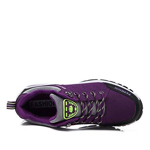 de de Purple Deportivos Primavera Antideslizantes para Exteriores Ligeros Mujer al Libre Zapatos y Calzado Aire Suetar Mujer Trekking para Zapatos THqw8xU
