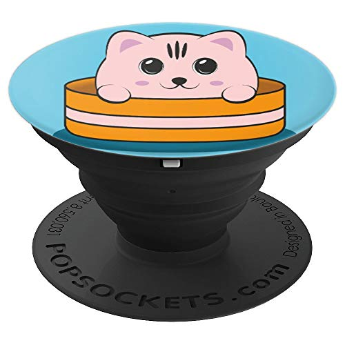 Funny Kawaii Japanese Anime Cat Cosplay Gift Idea - PopSockets Grip and Stand for Phones and -