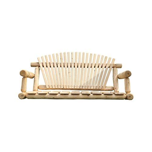 (Furniture Barn USA White Cedar Log Chain Swing - 7 foot)