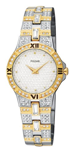 Pulsar Women's PTA366 Crystal Accented Two-Tone Stainless Steel Watch