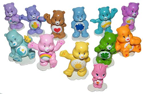 - Care Bears Deluxe Figure Set of 12 Cake Toppers Cupcake Toppers Party Decorations