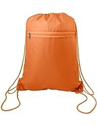 Zippered Drawstring Bag Cinch Sack Promotional Backpack Gym Travel Hike 12 Pack