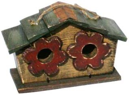 Garden Decoration HT10156MS Birdhouse, 6.5-Inch, Mustard For Sale