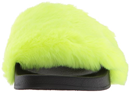 Neon Yellow Steve Women's Slide Madden Softey Flat Sandal q70Uv7Pn