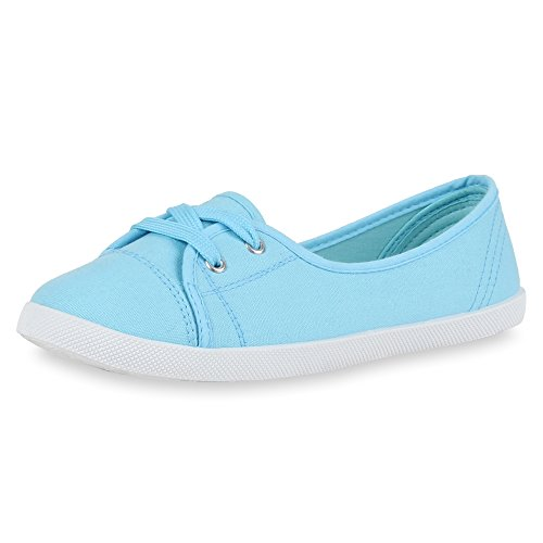 napoli-fashion - Bailarinas Mujer azul claro