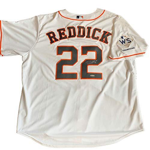 (Josh Reddick Signed Houston Astros Replica White Jersey)