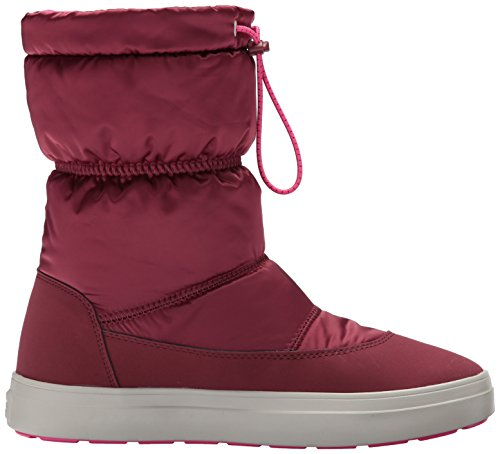 Crocs Womens Lodgepoint Lucido Pull-on W Snow Boot Granato / Rosa Confetto