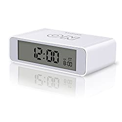Ddida Flip Alarm Clock, Travel Alarm Clock, Kids Alarm Clock with Snooze and Touch Sensor Nightlight (White)