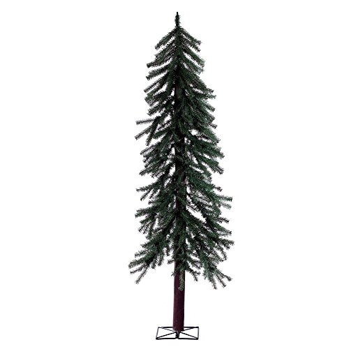 Artificial Christmas Trees. This Fake Xmas Alpine-style Pine Tree, Easy Assembly. It's Narrow Pine Shape Looks Natural. Great For Indoor, Smaller Living Spaces & Holiday Season Party Decor. (6 Foot) by Artificial-Christmas-Trees