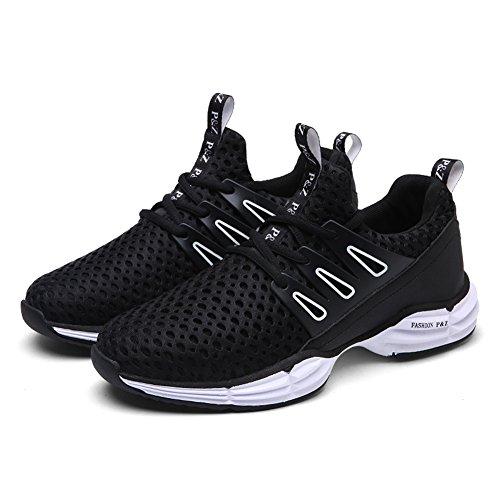 Yiruiya Heren Casual Atletische Veterschoenen Met Sneakers Zwart2