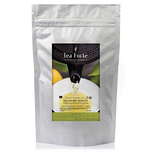 Tea Forté ONE POUND POUCH, Loose Bulk Tea - Blueberry Merlot Herbal Tea -  Tea Forte, 14140638