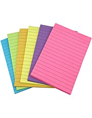 AWEELON 6 Pack Lined Sticky Notes Bulk Self-Stick Pads 4X6 inch