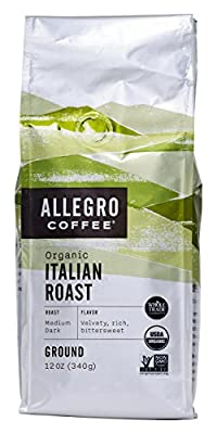 Allegro Coffee Decaf Organic Italian Roast Ground Coffee, 12 oz by Allegro Coffee
