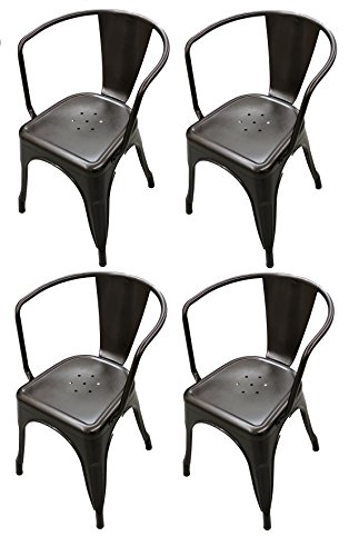ining Room Stacking Chair - Set of 4 (Bronze) ()