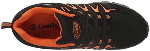 Conway 607398 - Zapatillas Hombre Multicolor - Mehrfarbig (schwarz/orange)