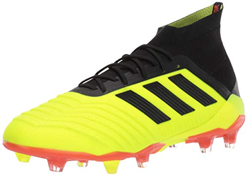 adidas Men's Predator 18.1 FG Soccer Shoe, Yellow/Black/Solar Red, 8 Medium US