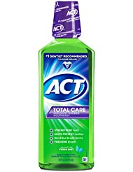ACT Total Care Rinse Mouthwash Fresh Mint 18 Ounce Anticavity...