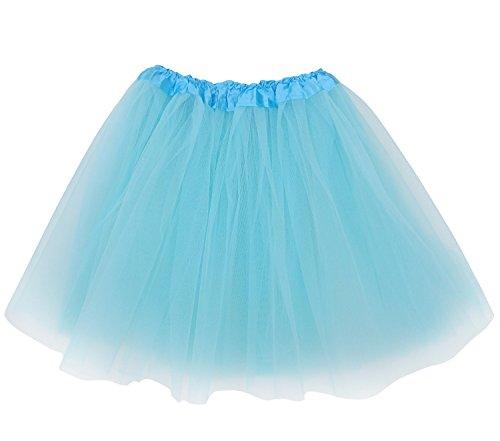 Zebra Tutu (Adult Size 3-Layer Tutu Skirt - Princess Costume Ballet Party Warrior Dash/Run (Aqua))