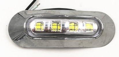 10/x 12/V 4/LED avant c/ôt/é Outline Feux de gabarit avec lentille transparente Cadre de chrome Camion benne de voiture caravane Bus van ext/érieur//int/érieur Utilisation