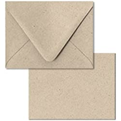 "DIY starter greeting card kit: set of 12 Blank Card and Envelope A6 4.5"" X 6.25""in Kraft"