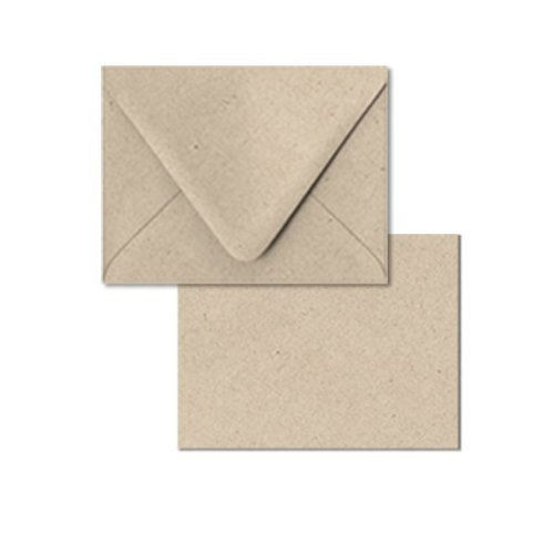 Recycled Blank Cards (DIY starter greeting card kit: set of 12 Blank Card and Envelope A6 4.5