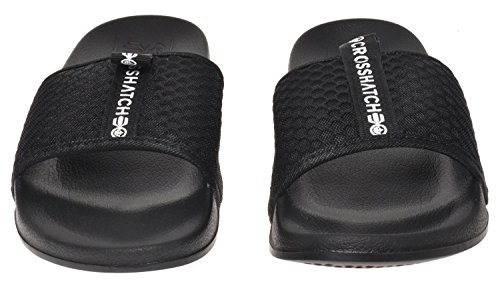 Crosshatch Mens Slider Mule Slip-on Summer Beach Pool Sandal Egremni-black vjUl3zIgk