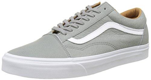 Vans Herren UA Old Skool Sneakers Grau (Premium Leather Wild Dove/true White)
