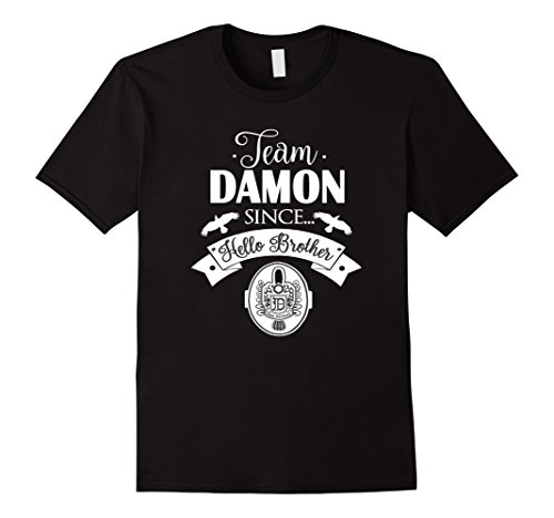 Men's Team Damon Since Hello Brother T Shirt 2XL Black