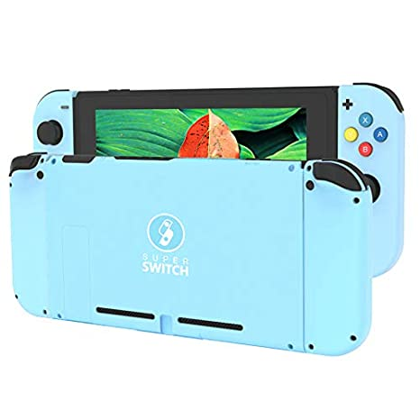 BASSTOP DIY Replacement Housing Shell Case Set for Switch NS NX Console and  Right Left Switch Joy-Con Controller Without Electronics (Set-RMGN)