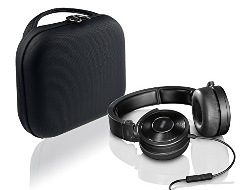 Travel Easy Designed Headphones Case for ATH-M50, M50X, ANC29; SONY MDRXB950, MDRXB650, MDRXB920, MDRZX770; Beoplay H4, H6, H9; Plantronics BackBeat PRO 2 (Rubber Coated Bubble Pattern Black PU)