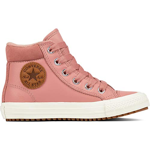 Converse Boys' Chuck Taylor All Star High Top Boot Sneaker, Rust Pink/Burnt Caramel, 13.5 M US Little Kid