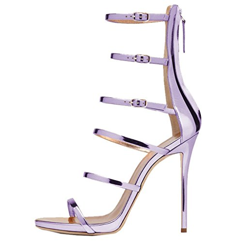 EKS - Zapatos de tacón fino Mujer Morado - morado