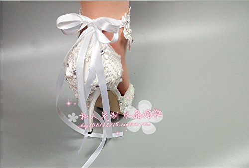 Prom New Lace Wedding 8 Crystal Wedding Joker Pearl Shoes Sandals VIVIOO Photography Super High Satin Shoes Bride Bridesmaids Bracelet With gtxwdgX