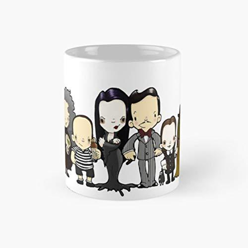 They're creepy and they're kooky Mug, addams Tea Cups, 11 Ounce Ceramic Mug, Perfect Novelty Gift Mug, Funny Mugs Gift, Tea Mugs, Funny Coffee Mug 11oz