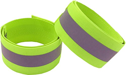 (Reflective Bands for Arm, Wrist, Ankle, Leg. Reflector Bands. High Visibility Reflective Running Gear for Women and Men Cycling Walking Bike Safety Tape Straps - Bicycle Pants Clip, Cuff)